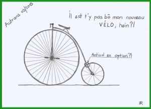 2015-03-11 - Nouveau vélo Nicole dessiné par Pierre