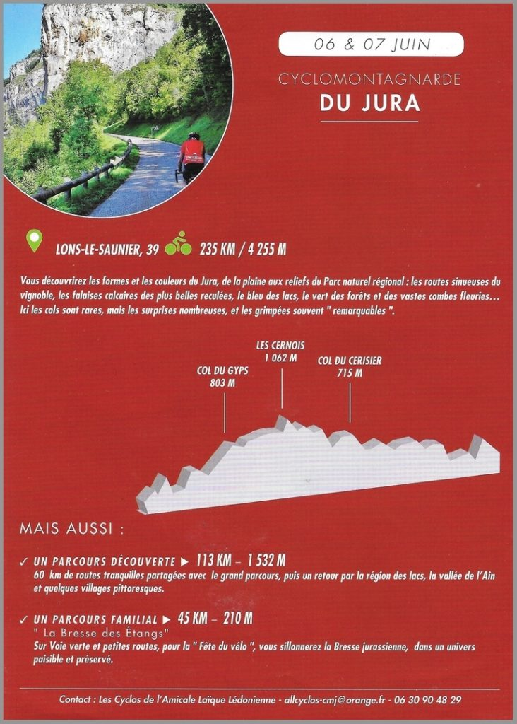 Calendrier Rando Jura 2020.Les Cyclomontagnardes 2020 Cyclo Randonneurs Thononais